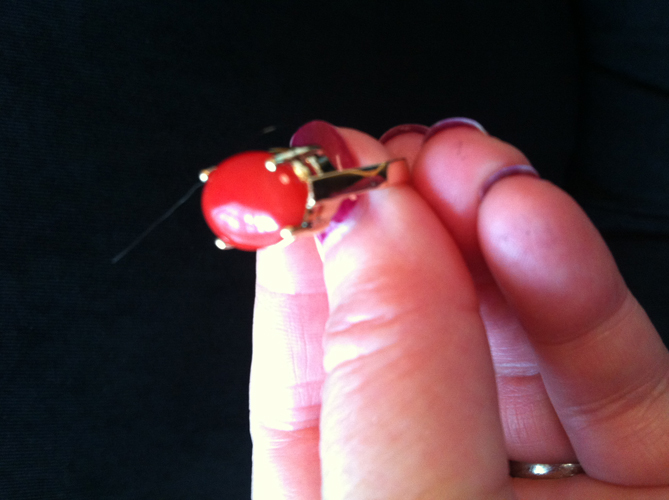 Red Coral Ring 3.58 Carats in 14K Gold - Click Image to Close