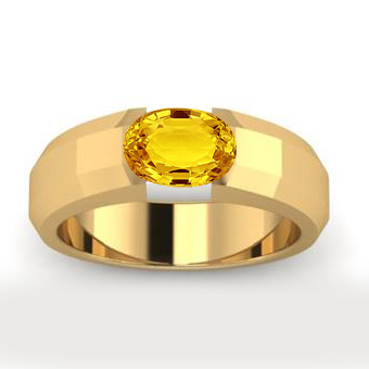 Men's Yellow Sapphire Ring - Click Image to Close